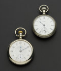 Timepieces:Pocket (post 1900), Elgin 17 Jewel & Auora 11 Jewel 18 Size Pocket Watches Runners. ... (Total: 2 Items)