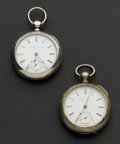 Timepieces:Pocket (post 1900), Elgin & Illinois 18 Size Key Wind Pocket Watches Runners. ...(Total: 2 Items)