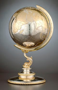 Silver Holloware, Continental:Holloware, A GERMAN SILVER AND SILVER GILT GLOBE . Maker unknown, Germany,circa 1980. Marks: MADE IN EASTERN GERMANY, 925 STERLING...