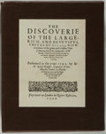 Books:Travels & Voyages, [New World Discoveries]. Facsimile Edition of Sir Walter Raleigh The Discoverie of Guiana [1596] and Antonio G...