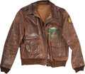 Antiques:Decorative Americana, Original 600 Bomb Squadron, 398th Bomb Group A-2 Flight Jacket with Painted Back. ...