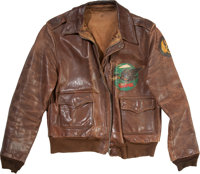 Original 600 Bomb Squadron, 398th Bomb Group A-2 Flight Jacket with Painted Back