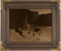 """Photography:Official Photos, Edward S. Curtis, Photographer: """"At the Old Well of Acoma"""" VintageGoldtone in Original Frame...."""