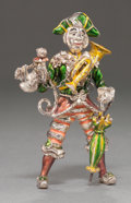 Silver Smalls:Other , A TIFFANY & CO. SILVER AND ENAMEL CIRCUS CLOWN WITH MONKEYDESIGNED BY GENE MOORE . Tiffany & Co., New York, New York,circa...