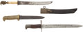 Edged Weapons:Knives, Lot of Three Miscellaneous Knives and Bayonets. ... (Total: 3 Items)
