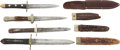 Edged Weapons:Knives, Lot of Four 19th Century Sheffield Made Sheath Knives.... (Total: 4Items)