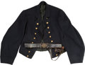 Military & Patriotic, Civil War Navy Officer's Jacket and Belt... (Total: 2 Items)