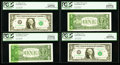 Error Notes:Ink Smears, Fr. 1909-K $1 1977 Federal Reserve Notes. Four ConsecutiveExamples. PCGS Very Choice New 64PPQ-Superb Gem New 67PPQ.. ...(Total: 4 notes)