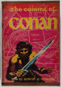 Books:Science Fiction & Fantasy, Robert E. Howard. The Coming of Conan. Gnome Press, Inc., 1953. First edition. Hardbound with dust jacket. Conte...