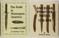 Books:Americana & American History, Lot of Two Important Reference Works on Collectible Knivesincluding: Gordon B Minnis. American Primitive Knives, 17...(Total: 2 Items)