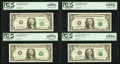 Error Notes:Error Group Lots, Fr. 1911-K $1 1981 Federal Reserve Notes. Two Examples. PCGS VeryChoice New 64PPQ-Gem New 66PPQ; Fr. 1925-F $1 1999 Federal R...(Total: 4 notes)