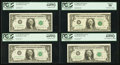Error Notes:Error Group Lots, Fr. 1901-B $1 1963A Federal Reserve Notes. Two ConsecutiveExamples. PCGS Very Choice New 64PPQ; Fr. 1901-D $1 1963A FederalR... (Total: 4 notes)