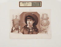 Annie Oakley: An Extremely Rare Proof of a Never-Produced Cigar Box Inner Label