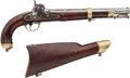 Military & Patriotic:Civil War, Model 1855 US Springfield .58 Caliber Percussion Pistol Carbine Dated 1855...
