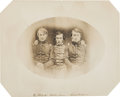 Military & Patriotic:Pre-Civil War, The Earliest Known Photograph of Gen. George Crook, Philip H. Sheridan and Lt. John Nugen C. 1850....