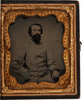 Photography:Ambrotypes, Great Sixth Plate Confederate Ambrotype Of Dr. William Haskins Along With His Appointment As Surgeon Of The 59th Va. Inf. Sign... (Total: 2 Items)