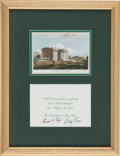 Autographs:U.S. Presidents, Gerald Ford: Signed 1974 White House Christmas Card....