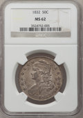 Bust Half Dollars, 1832 50C Large Letters MS62 NGC. O-101, R.2....