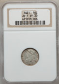 Bust Dimes, 1831 10C VF30 NGC. JR. 1 NGC Census: (7/279). PCGS Population(12/288). Mintage: 771,350. Numismedia Wsl. Price for pro...
