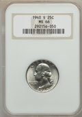 Washington Quarters: , 1940-S 25C MS66 NGC. NGC Census: (453/148). PCGS Population(530/49). Mintage: 8,244,000. Numismedia Wsl. Price for problem...