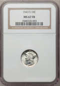Mercury Dimes: , 1943-S 10C MS67 Full Bands NGC. NGC Census: (174/7). PCGSPopulation (177/15). Mintage: 60,400,000. Numismedia Wsl. Pricef...