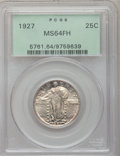 Standing Liberty Quarters: , 1927 25C MS64 Full Head PCGS. PCGS Population (216/168). NGCCensus: (170/94). Mintage: 11,912,000. Numismedia Wsl. Price f...