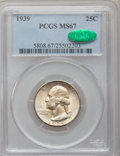 Washington Quarters: , 1939 25C MS67 PCGS. CAC. PCGS Population (231/3). NGC Census:(245/3). Mintage: 33,548,796. Numismedia Wsl. Price for probl...