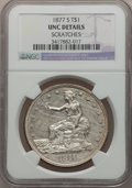 Trade Dollars: , 1877-S T$1 -- Scratches -- NGC Details. Unc. NGC Census: (38/660). PCGS Population (51/710). Mintage: 9,519,000. Numismedia...