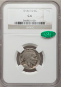 Buffalo Nickels, 1918/7-D 5C Good 6 NGC. CAC. FS-101....