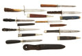 Edged Weapons:Knives, Group Of Eight 1860 - 1890 Knives / Dirks.... (Total: 8 Items)
