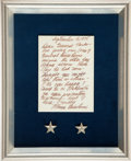 Military & Patriotic:WWII, Pair Dwight Eisenhower's General's Stars Given To BG Madelyn Parks by Mamie Eisenhower...