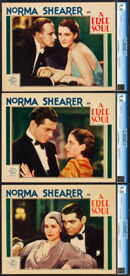 """A Free Soul (MGM, 1931). CGC Graded Lobby Cards (3) (11"""" X 14""""). ... (Total: 3 Items)"""