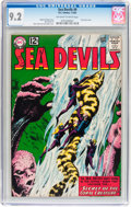 Silver Age (1956-1969):Superhero, Sea Devils #9 (DC, 1963) CGC NM- 9.2 Off-white to white pages....