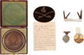Military & Patriotic:Civil War, Great Group Of Artifacts Associated With Confederate Gen. Williams C. Wickham Originally Colonel Of The 4th Virginia Cavalry.... (Total: 4 Items)