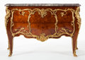 Furniture : French, A FRANÇOIS LINKE FRENCH LOUIS XV-STYLE KINGWOOD, GILT BRONZE ANDMARBLE COMMODE . François Linke (French, 1855-1946), Paris,...