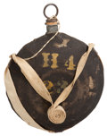 Military & Patriotic, . Outstanding Marked M. 1858 Canteen From Philadelphia Depot...