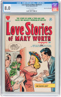 Golden Age (1938-1955):Romance, Love Stories of Mary Worth #1 Mile High pedigree (Harvey, 1949) CGC VF 8.0 Off-white to white pages....