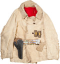 Military & Patriotic:Indian Wars, Early Indian Wars Cavalry Officer's Fringed Buckskin Jacket, Beaded Belt & Shoulder Straps... (Total: 3 Items)