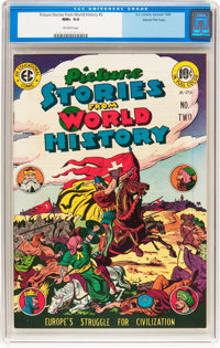 Picture Stories from World History #2 Gaines File pedigree 2/11 (EC, 1947) CGC NM+ 9.6 Off-white pages