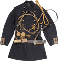 Military & Patriotic:Indian Wars, US Army 1872 Pattern Officer's Frock Coat Dress Belt &Aiguillette... (Total: 2 Items)