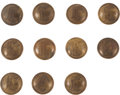 Militaria:Insignia, Group Of Eleven Coat Size Confederate Infantry Officer's Script I Buttons - Isaacs Campbell & Co.... (Total: 11 )