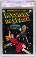 Golden Age (1938-1955):Science Fiction, Mystery in Space #1 (DC, 1951) CGC Apparent VF- 7.5 Moderate (P)White pages....