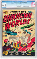 Golden Age (1938-1955):Science Fiction, Journey Into Unknown Worlds #36 (#1) (Atlas, 1950) CGC FN+ 6.5Off-white pages....