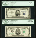 Error Notes:Error Group Lots, Fr. 1655 $5 1953 Silver Certificate. PCGS Very Fine 35;. Fr. 1965-B$5 1950D Federal Reserve Note. PCGS Choice New 63PPQ.. ... (Total:2 notes)