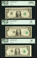Error Notes:Error Group Lots, Fr. 1907-L $1 1969D Federal Reserve Note. PCGS Very Fine 25;. Fr.1908-D $1 1974 Federal Reserve Note. PCGS Very Fine 25PPQ;. ...(Total: 3 notes)