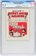 Platinum Age (1897-1937):Miscellaneous, Mickey Mouse Magazine Dairy Giveaway V1#1 (Walt Disney Productions,1933) CGC VF 8.0 White pages....