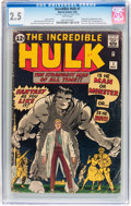 Silver Age (1956-1969):Superhero, The Incredible Hulk #1 (Marvel, 1962) CGC GD+ 2.5 White pages....