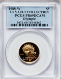 Modern Issues, 1988-W G$5 Olympic Gold Five Dollar PR69 Deep Cameo PCGS. Ex: USVault Collection. PCGS Population (8541/437). NGC Census:...