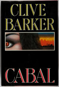Books:Horror & Supernatural, Clive Barker. SIGNED. Cabal. Poseidon, 1988. First edition, first printing. Signed by the author. Mild rubbing a...