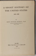 Books:Americana & American History, John Spencer Bassett. A Short History of the United States1492-1920. Macmillan, 1924. Later edition. Minor rubb...